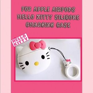 Hello kitty silicone charging case for 🍎 AirPods.